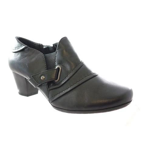 lotus celt black leather toe shoe boot