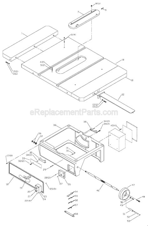 delta bench saw parts delta 36 790 parts list and diagram type 1