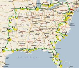 road map eastern united states united states map the eastern united states complete