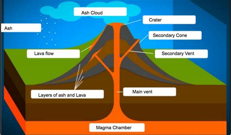 diagram of volcanoe composite volcano labeled diagram excretory system diagram