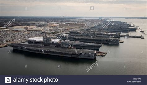 boat transport norfolk va aircraft carriers in port at naval station norfolk
