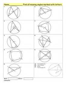 maths circle theorems homework worksheet by tristanjones