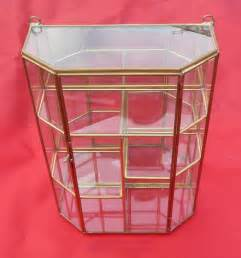 Glass Display Cabinet Collectibles New Glass Brass Curio Display Cabinet For Collectibles