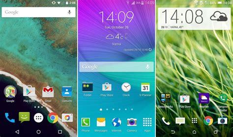 android 5 0 lollipop vs touchwiz vs sense vs lg ux vs