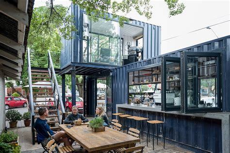 Shipping Container Homes Interior Design by Spout Coffee A Modern Container Coffee Shop In Pretoria