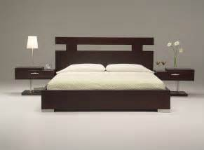 Bedrooms Decoration Ideas ultra modern king size bed set from wooden material
