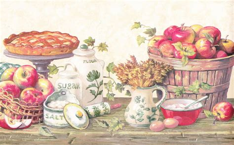 country kitchen wallpaper borders country kitchen grannys apple pie berautiful wallpaper