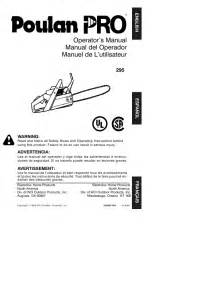poulan electric chain saw operator s manual