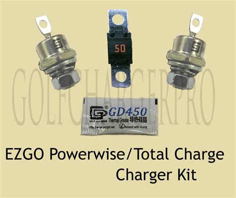 Kit Charger 24volt Auto Charger Up To 200ah ezgo powerwise total charge 36 volt golf car charger diode rectifier fuse kit ebay