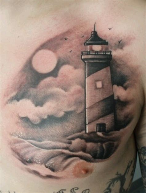lighthouse tattoo chest pictures to grey ink lighthouse on foot photo 2 2017 real