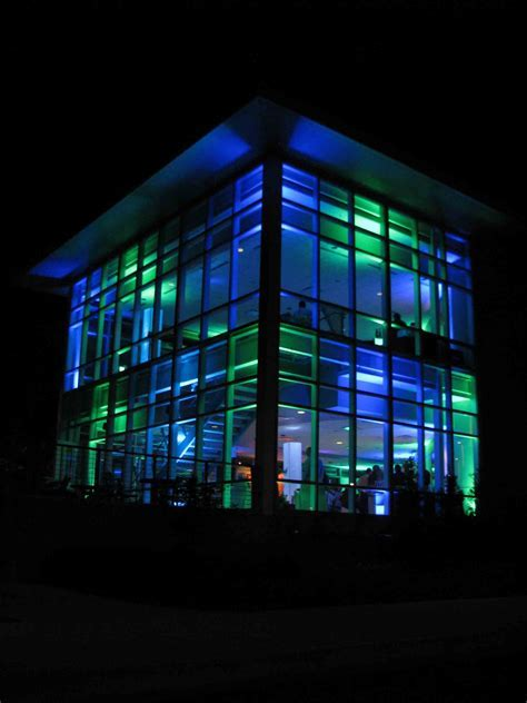 Event Lighting at Lewis University Science Building