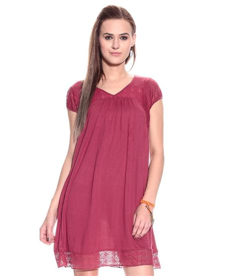 N1 Tenun Blouse Tunic buy mineral maroon solids viscose tunic at best prices in india snapdeal