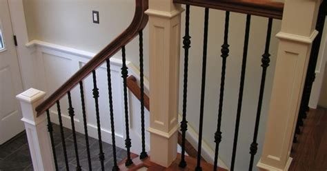 staircase spindles home depot wrought iron balusters