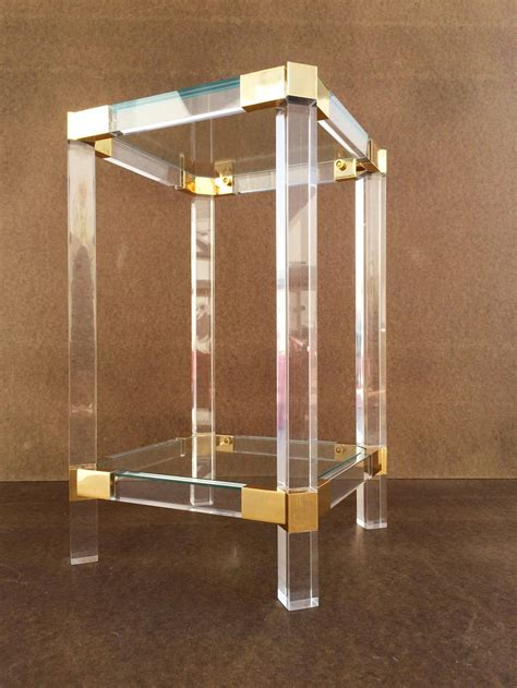 Acrylic Table L Acrylic And Glass Side Table By Charles Hollis Jones At 1stdibs