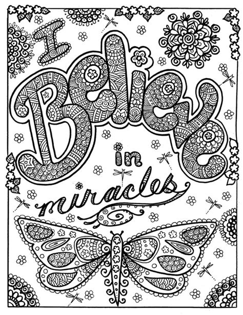 Positive Quotes Coloring Pages Brave Quotesgram Inspirational Coloring Pages For Adults