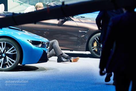 bmw ceo bmw ceo harald krueger faints on stage at frankfurt motor