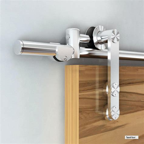 Modern European Stainless Steel Wooden Satin Sliding Barn Sliding Barn Door Hinges
