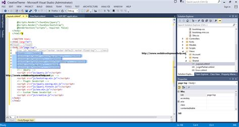 how to remove layout from view in mvc step by step using bootstrap3 with asp net mvc5 web