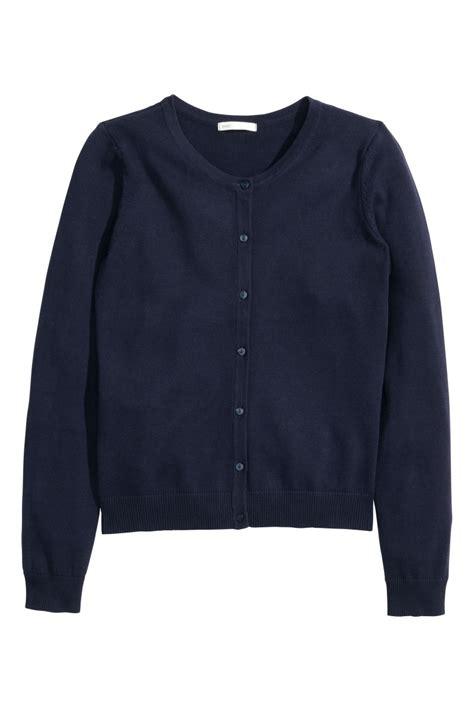 Cardigan Lp 5 cotton cardigan blue sale h m us