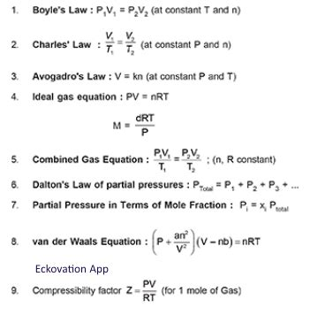 important formulas  jee mains chemistry engineering