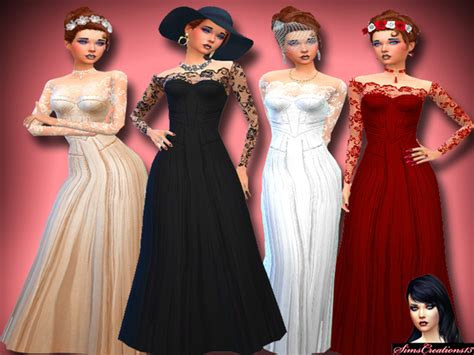 js sims 4 bow collar dress sims 4 cc red bow sims 4 cc red bow simscreations13 s lily