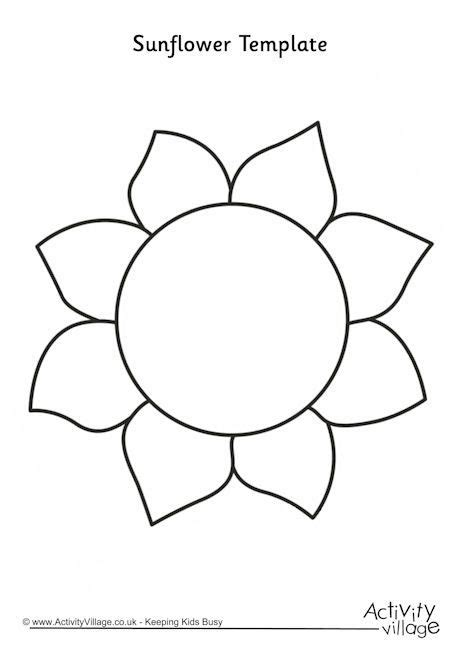 sunflower coloring pages preschool sunflower template 2 craft ideas pinterest vzory