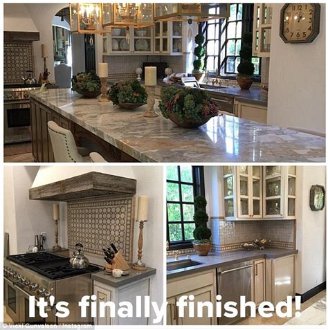 best home design on instagram it s finally finished vicki gunvalson shows stylish new kitchen renovation daily mail