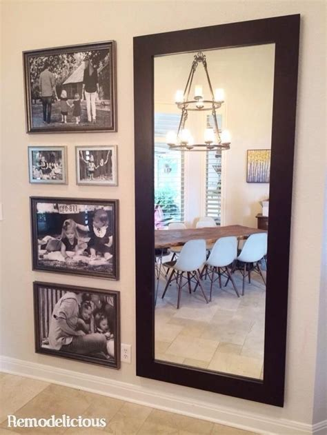 mirror collage wall decor big prints for a big wall large scale family photo