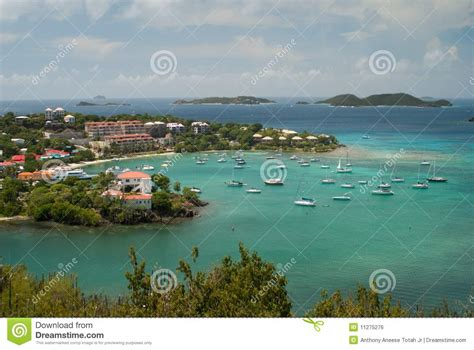 tow boat us city island cruz bay st john us virgin island royalty free stock