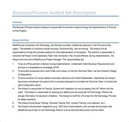 Business Process Description Template 11 business analyst description templates free
