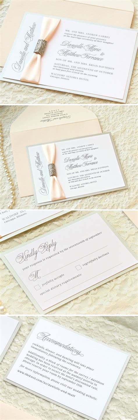 25  best ideas about Silver wedding invitation suites on