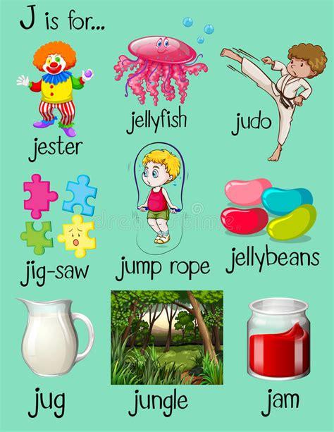 imagenes que empiecen con la letra j muchas palabras comienzan con la letra j ilustraci 243 n del