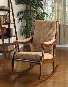 Living Room Chair Cushions - oak wood antique rocking chair living room furniture