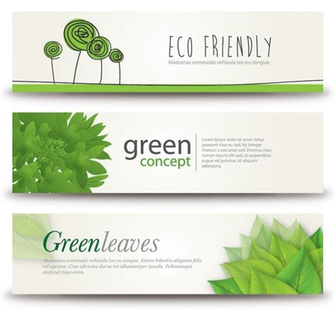 banner design for nature eco banners vector free download