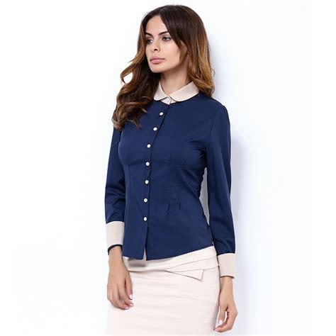 Blouse Kerah Renda Blouse Polos sleeve blouse shirt black white casual blusas renda office summer work