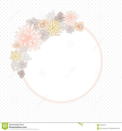 circle card template flower circle card template vector stock vector