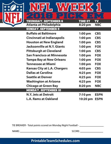 printable nfl schedule office pool 2014 ncaa football week to week schedule printable party