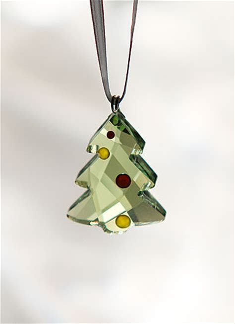 swarovski crystal festive christmas tree ornament