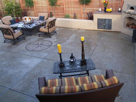 backyard cement patio ideas concrete patios hgtv