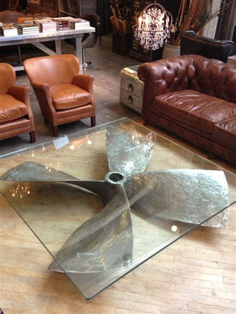 Cool Diy Coffee Table Propeller Glass Table Decor8 Restaurant