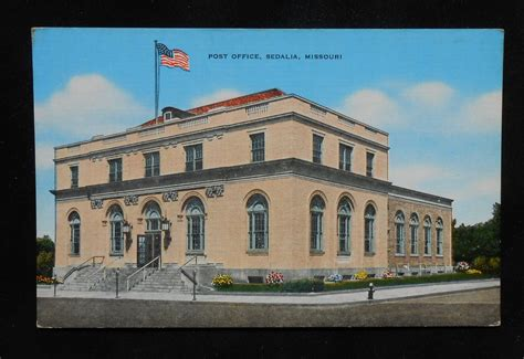 Sedalia Post Office by 1940s Post Office Sedalia Mo Pettis Co Postcard Missouri