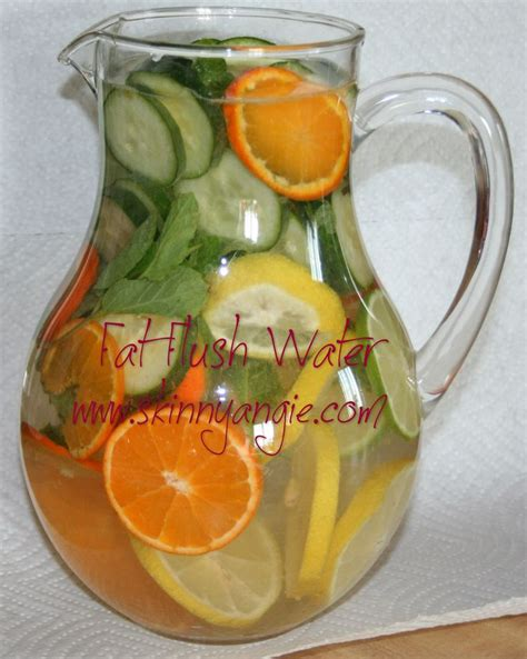Peppermint Tea Lemon Detox by Flush Water Helps With Water Retention And Bloating