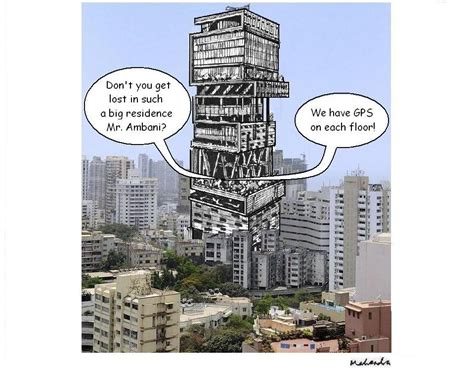 ambani house cartoon of the week ambani house with gps