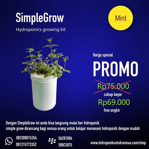 Jual Kit Hidroponik Kangkung simplegrow kit hidroponik murah cocok untuk pemula jual