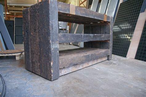 Railway Sleeper Shelves by Bray Leino S Shop Tables With Jarrah Railway Sleepers