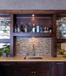Bar Backsplash Basement Bar Sink With Tile Backsplash Home Bar