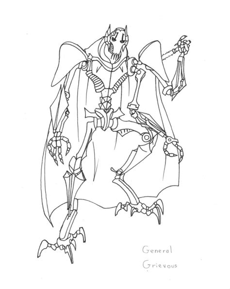 General Grievous Coloring Pages Printable Coloring Home General Grievous Coloring Page