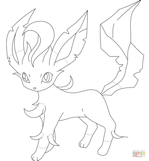 pokemon coloring pages of leafeon related keywords suggestions for leafeon drawing
