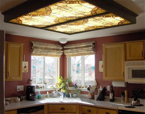 kitchen ceiling light covers fluorescent lighting decorative fluorescent light covers