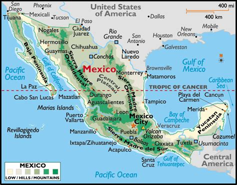 mexico and map mexico map of cities geography map of mexico regional
